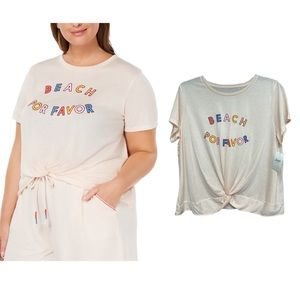 Jenni - Plus Size Twist-Front Pajama Top NWT!